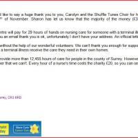 Letter from Marie Curie- well done everybody!